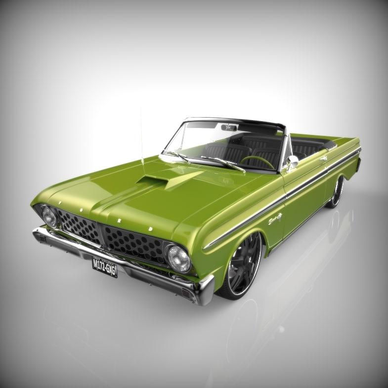 lowrider automobile vehicle 3d model