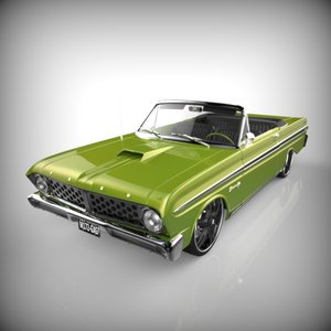 lowrider automobile vehicle 3d model