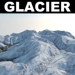 3d glacier 1 model