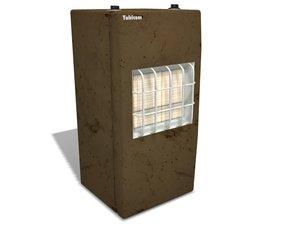3d model heater oled