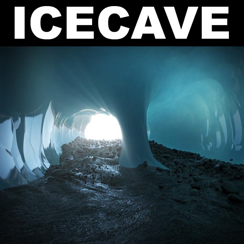 3d ice cave landscape desert model