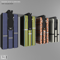 suspenders fashion shop 3d obj