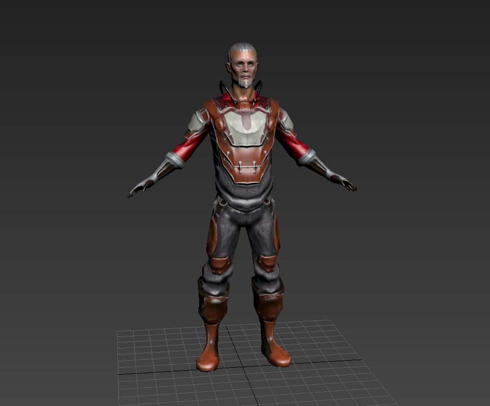 3d model old man character