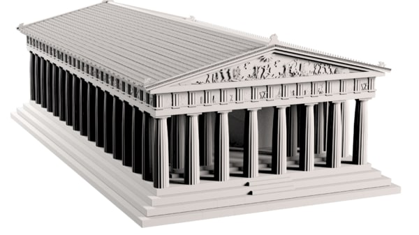 3d antique parthenon