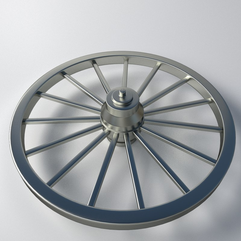 metal wheel 3ds