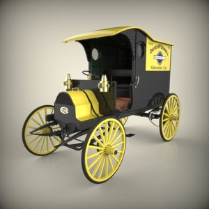 chase truck antique 3d model