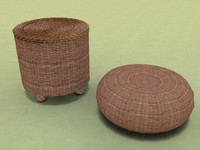 rattan chairs 3d max
