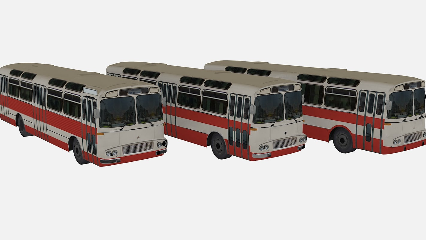 karosa sm11 city bus 3d model