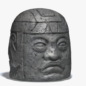 olmec statue 3d model
