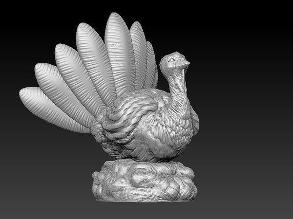 thanks giving turkey 3d model