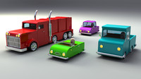 rigged vehicles 3d model