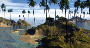 free island 3d model