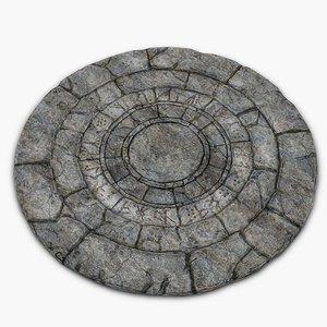 old stone circle obj