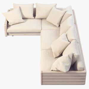 3d model wally sofa giorgetti