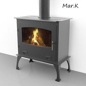 fireplace haas sohn nordic 3d model