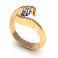 Marquise Band Love Ring