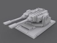3ds max laser turret