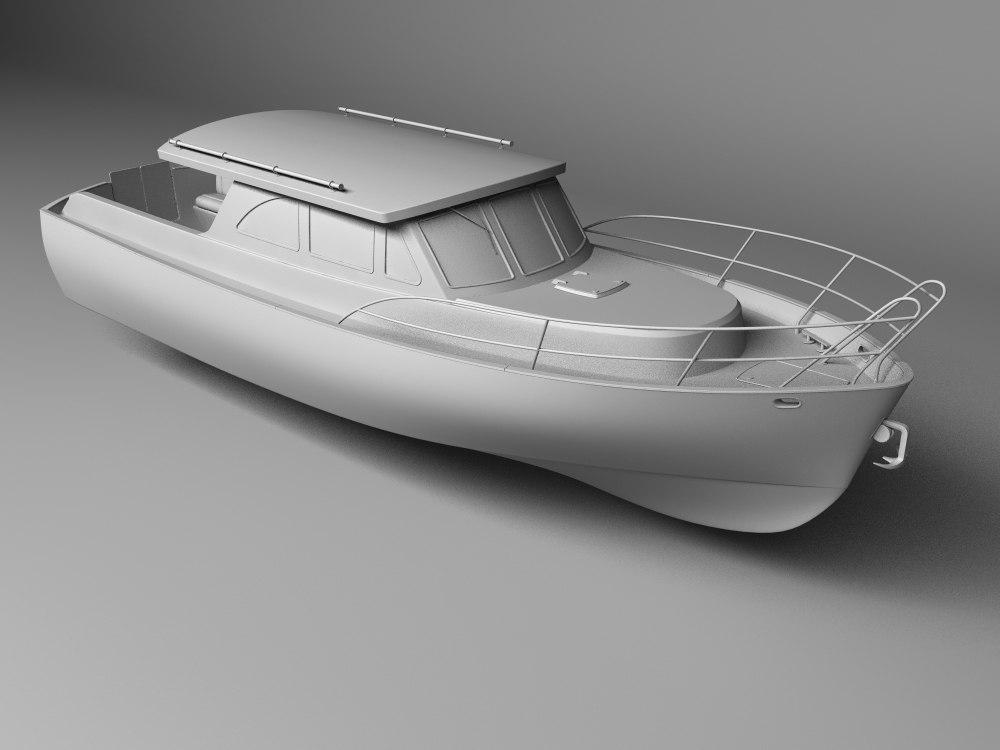 3d model motorboat boat