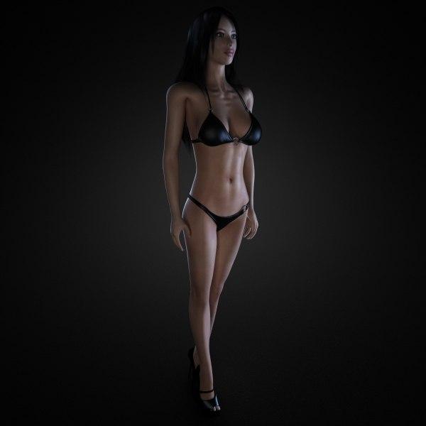 3d model of female body