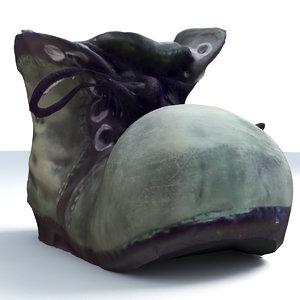 3ds cartoon shoes decoration