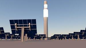 free 3ds model solar power