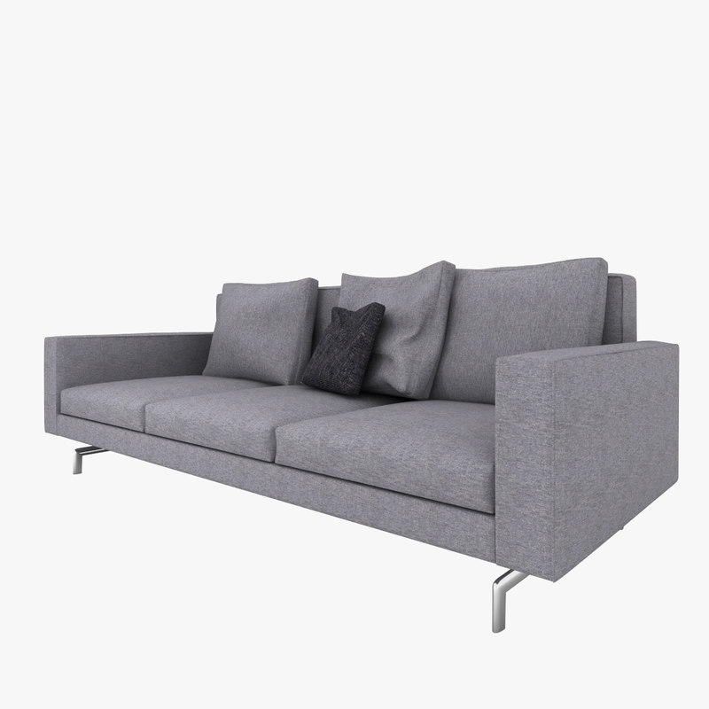 3d minotti sherman 93 sofa model