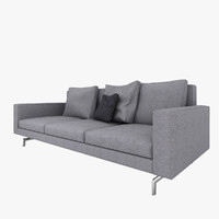3d minotti sherman 93 sofa model