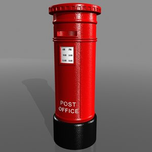 post box 3d max