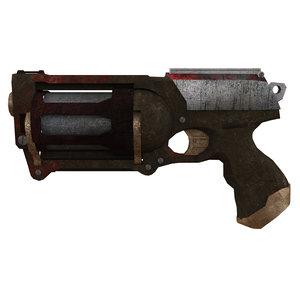 3d max gun pistol revolver