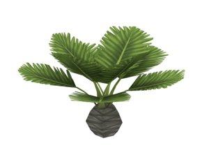obj small palm tree