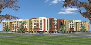 apartment block 3d model