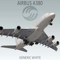airbus a380 generic white lwo
