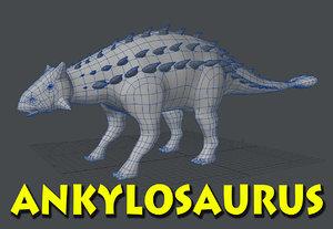 ankylosaurus dinosaur 3d lwo