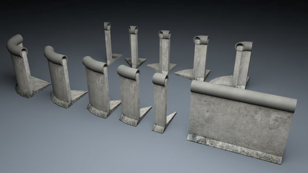 berlin wall 2nd gen 3d model