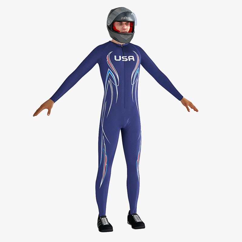3d bobsleigh player model