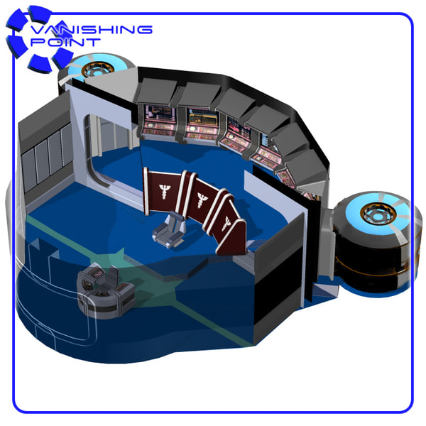 starship bridge 12 poser figure 3d model