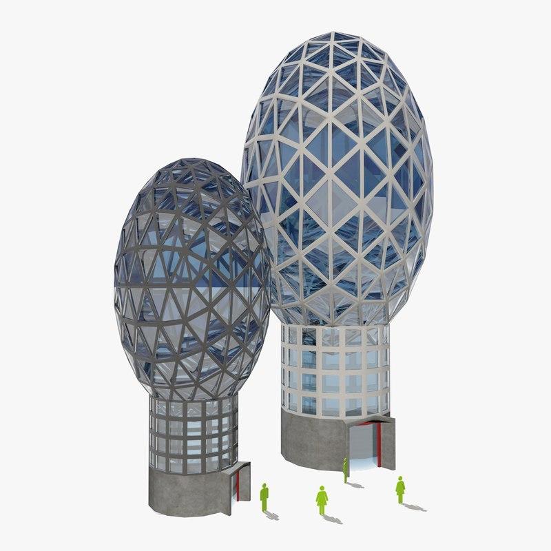 3d model of future buildings