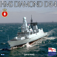 HMS Diamond D34 Type 45 Destroyer