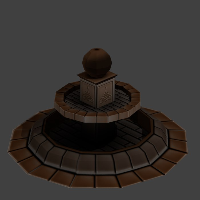 medieval fountain 3d model