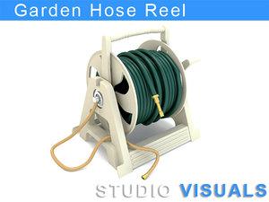 3d model garden hose reel