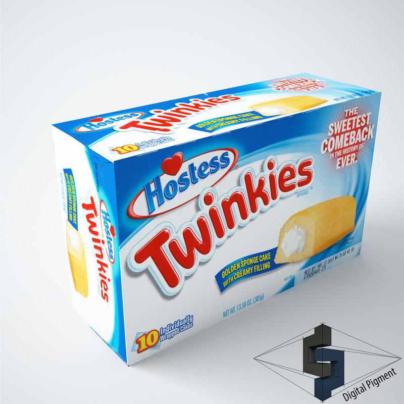 3d model hostess twinkies
