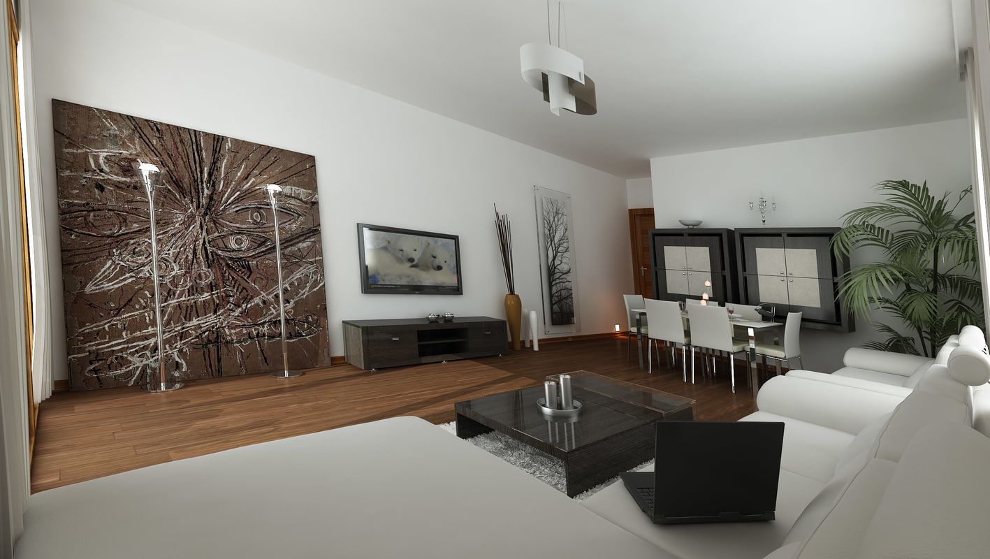 3ds max living room