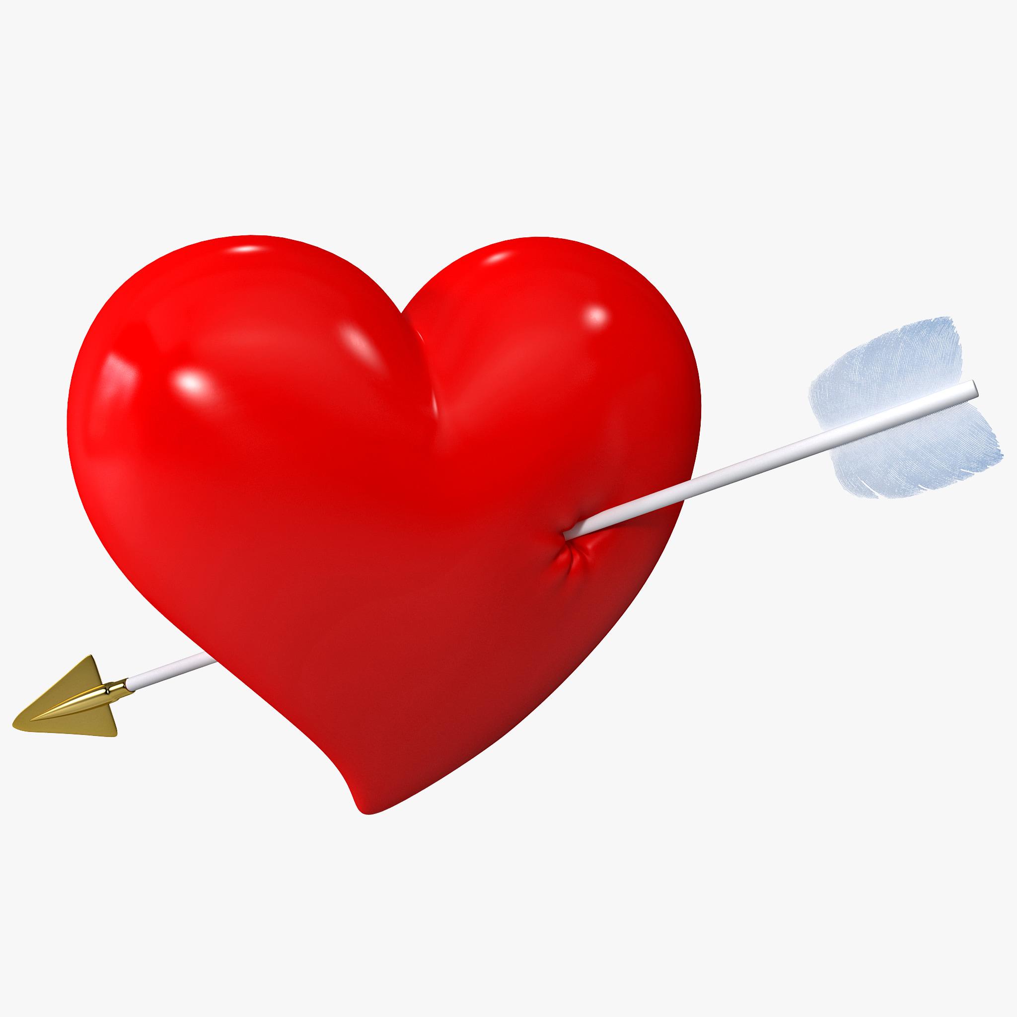 c4d heart arrow
