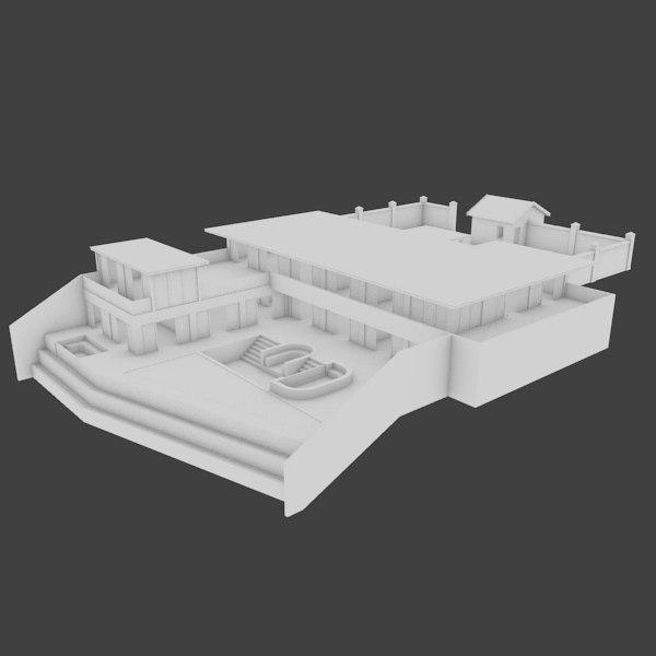 3d home interior exterior houses model