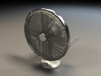 3d model of desk fan