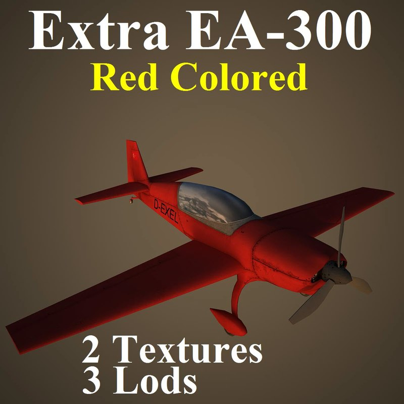 3d model extra red