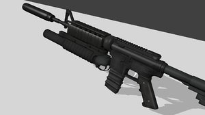 3d 3ds m4a1 assault rifle