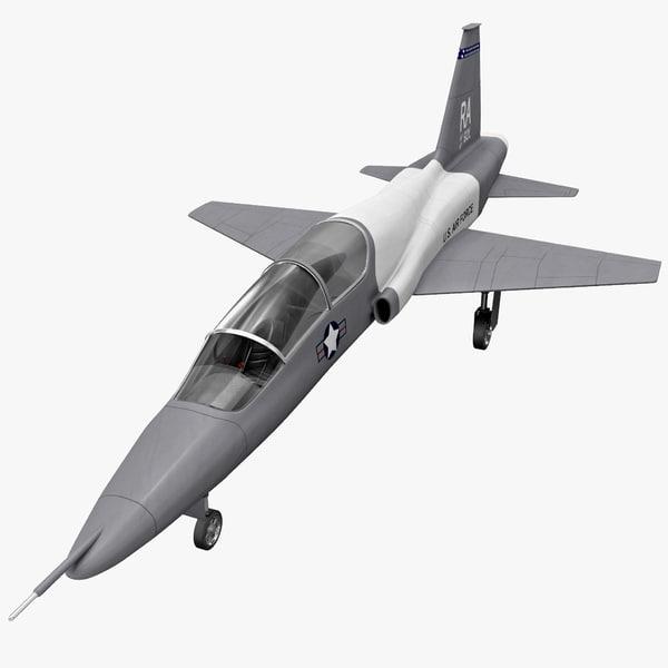 northrop t-38 talon supersonic 3d 3ds