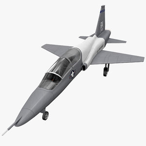 northrop t-38 talon supersonic 3d 3ds