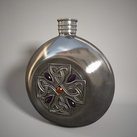 3d ornate bottle model